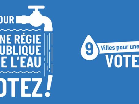 Consultation Régie publique de l'eau : un grand OUI