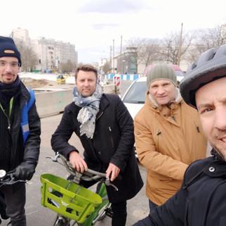 Les candidats à vélo