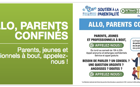 Allo Parents confinés