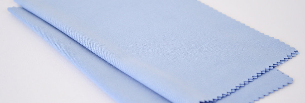 Silky Microfiber Cloth • 2 Pack Light Blue