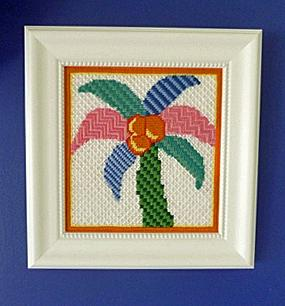 Painted Stitches Palm Tree