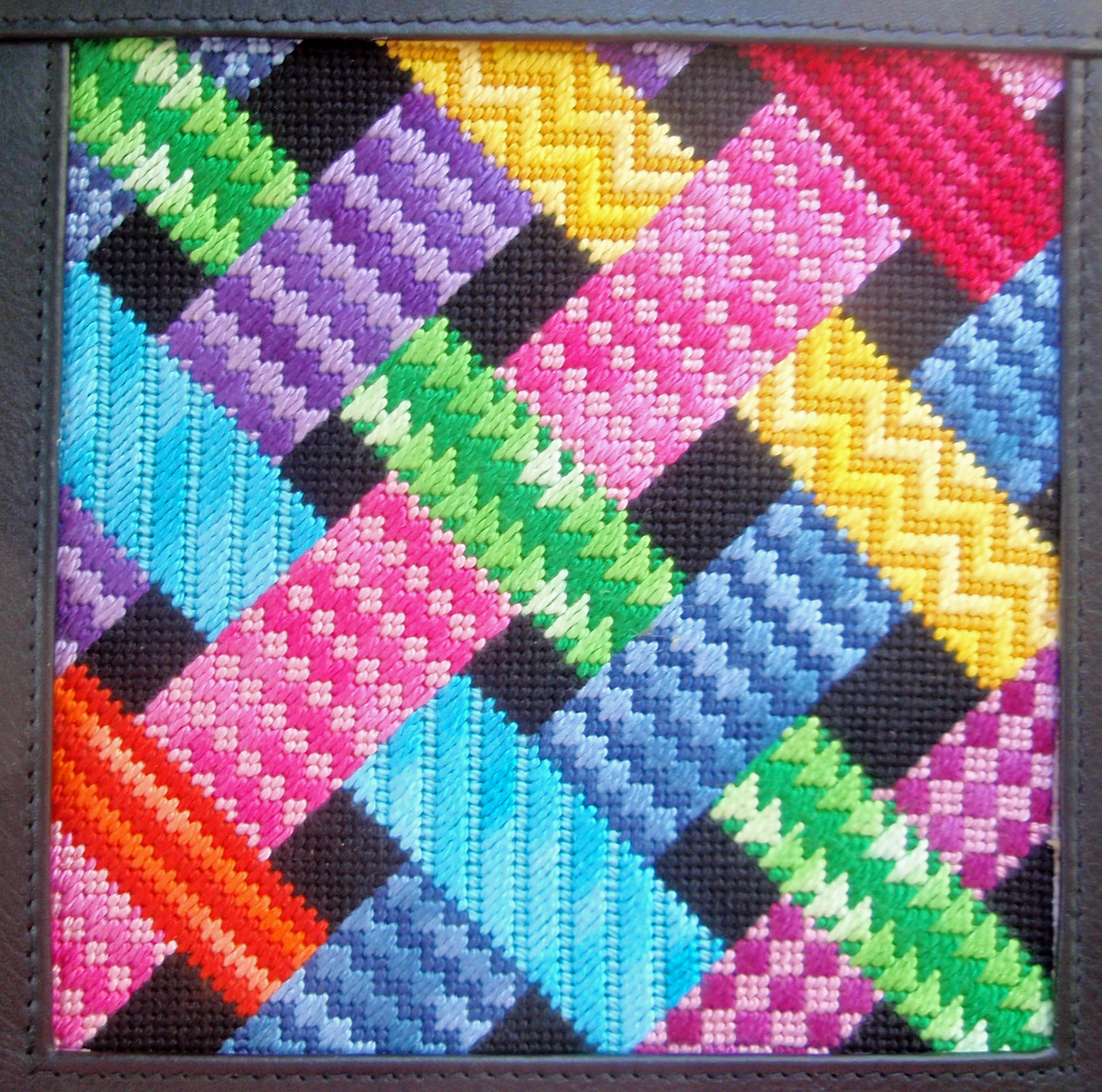 Painted Stitches Ribbon Sampler