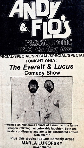 Andy & Flo's Comedy Club w comedy guest