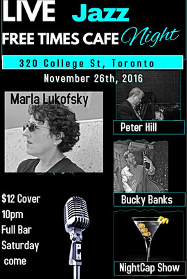 Free Times Cafe Show Nov.26 Marla Lukofsky w. Peter Hill on piano