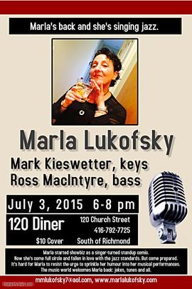 Marla Lukofsky Jazz poster 120 Diner