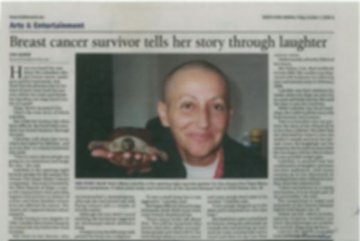 North York Mirror Comedian Marla Lukofsky's Cancer Story by Lisa Queen