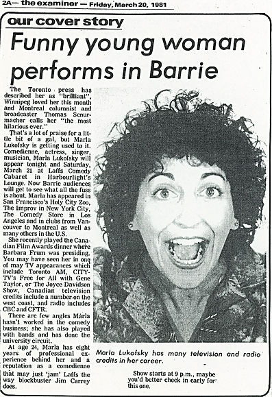 1981 Barrie Review Funny Young Woman Per