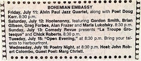 1975 July 12th Bohemian Embassy w. Don C