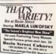 Basin Street's 'That's Variety' starring