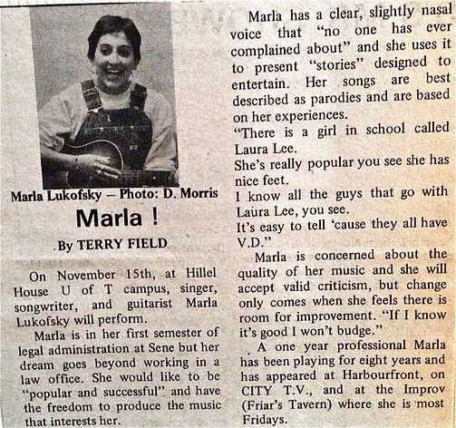 Seneca College Newspaper features Marla