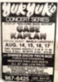 Yuk Yuk's Concert Series; Gabe Kaplan w