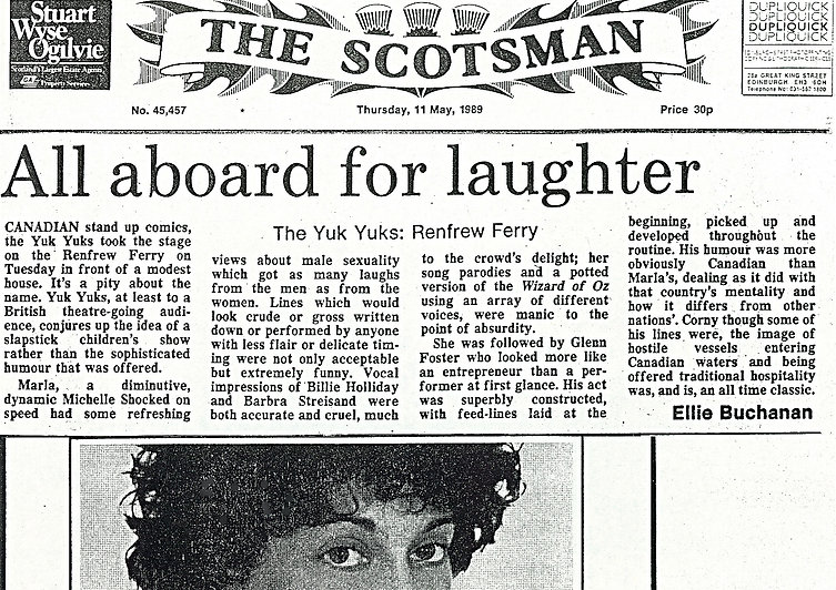 1989 The Scotsman Review Mayfest edited.