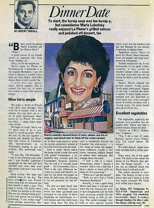 1984 Star TV Guide Dinner Date Interview