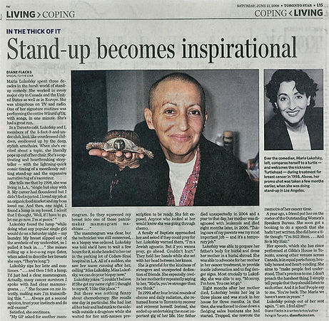 2008 Toronto Star Comedian Marla Lukofsky be