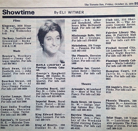 Showtime in The Toronto Sun by Eli Witme