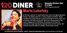 2016 120 Diner Poster Marla Lukofsky's Show Oct.15