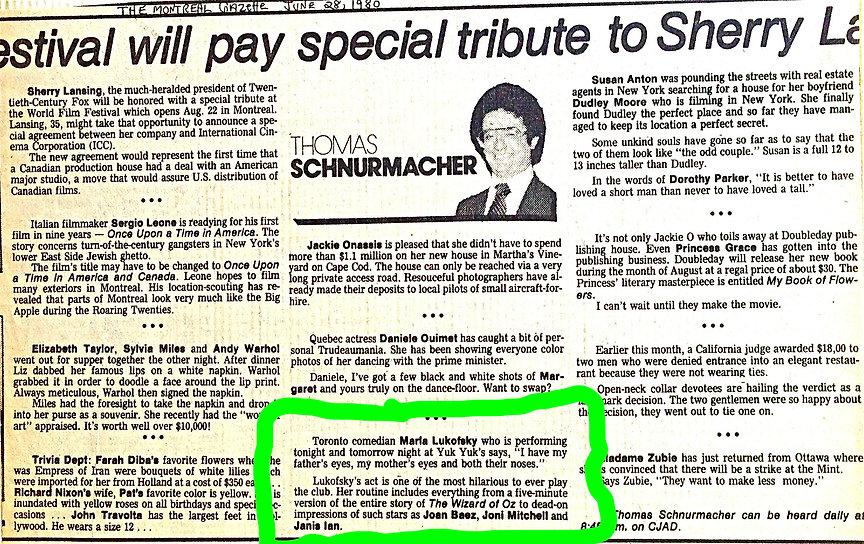 1980 Montreal Gazette Thomas Schmurmacke