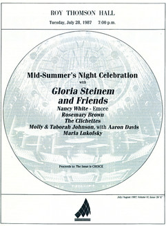 Marla headlines @ Roy Thomson Show w. Gloria Steinem
