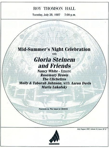 1987 Roy Thomson Show w. Gloria Steinem
