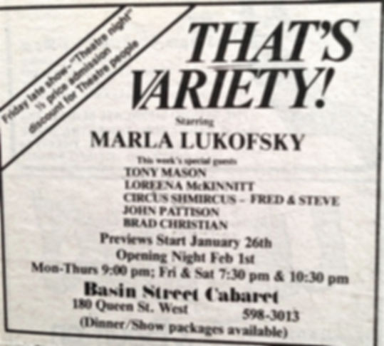 That's Variety starring Marla Lukofsky#2