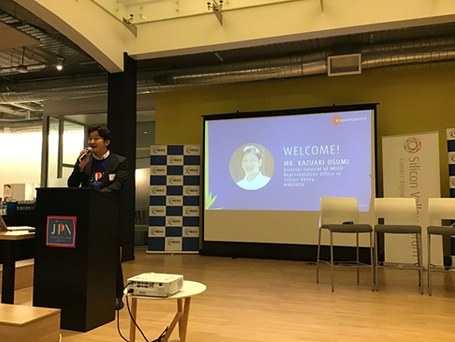 Greetings by Mr. Kazuaki Osumi, Director General of NEDO Silicon Valley Office.