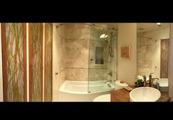 Black n White Room Bath