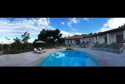 amazing sky over pool