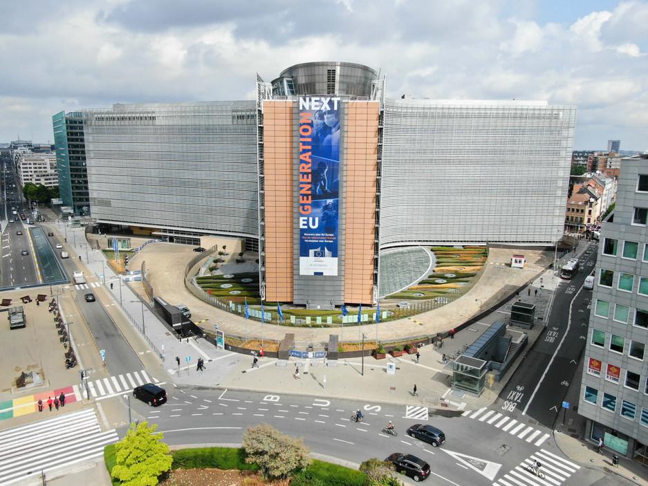 Photo aérienne du Berlaymont à Bruxelles
