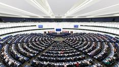 L'Hémicycle du Parlement européen de Strasbourg. Une fois par semaine, les députés s'y réunissent en session plénière