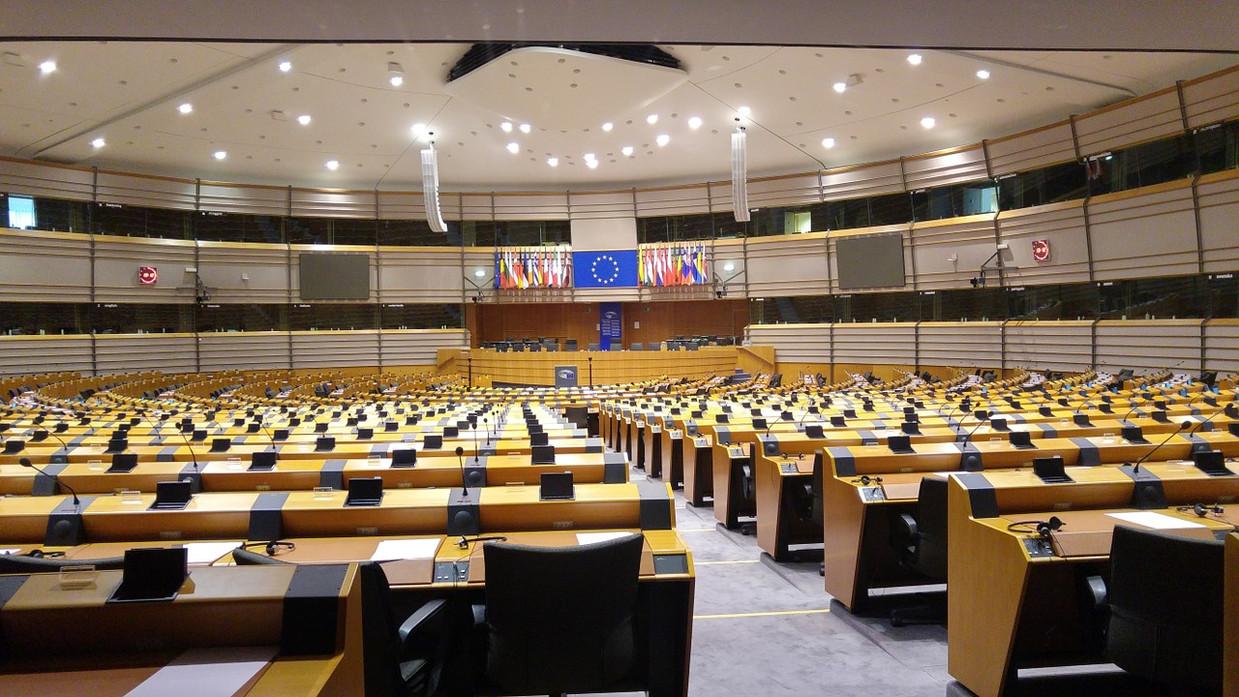 Hémicycle du Parlement européen de Bruxelles