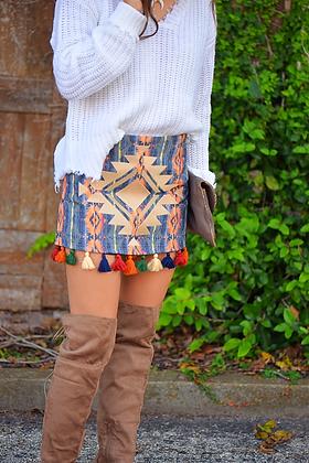 Firestone Aztec Tassel Skirt