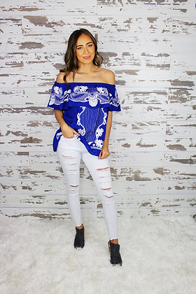Ticket To Paradise Off The Shoulder Top