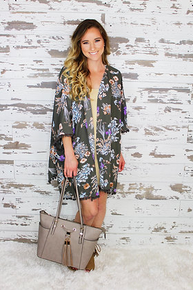 So Into You Floral Cardigan