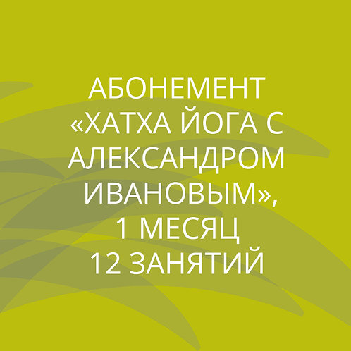 Абонемент на 12 занятий по хатха йоге у Александра Иванова в течение месяца