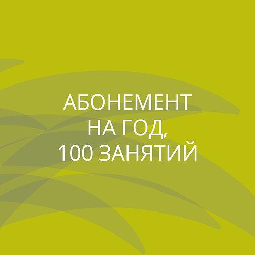 Абонемент на год (100 занятий)