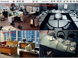 монитор компьютера с подключенной системой видеонаблюдения для офиса