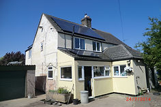 a roof full of solar panels on a residential property giving an excellent epc energy rating in Southwell