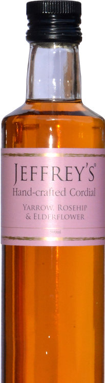 500ml Cordial Handcrafted Yarrow, Rosehip & Elderflower
