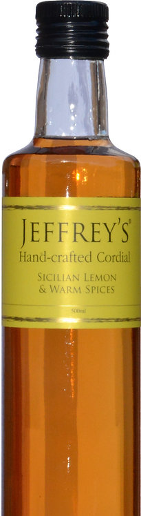 500ml Handcrafted Cordial Sicilian Lemon & Warm Spices