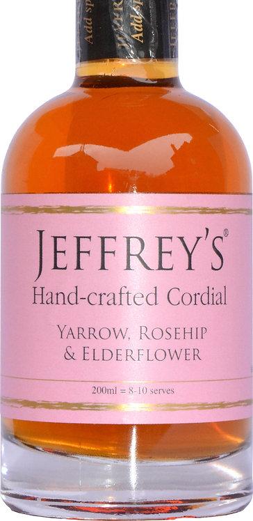Handcrafted Cordial Yarrow, Rosehip & Elderflower