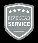 five star service badge