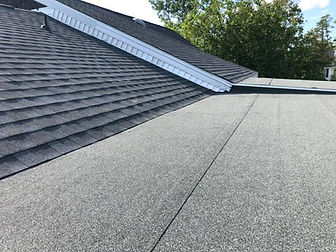 a recently installed flat roof