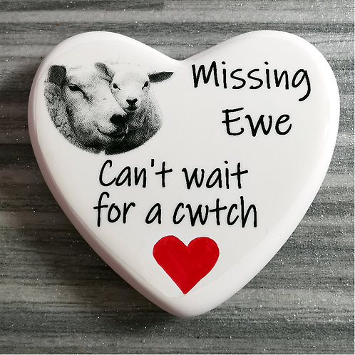 Missing Ewe, Sheep Design Comfort Heart Isolation, Letterbo