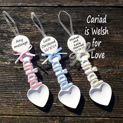 Personalised Cariad Handmade Lovespoons
