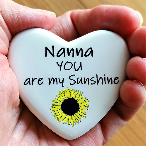 Personalised Comfort Heart You are My Sunshine, Isolation, Letter