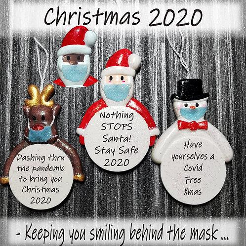 Christmas 2020 Lockdown Personalised Keepsake Tree Decoration Quarantine Bauble