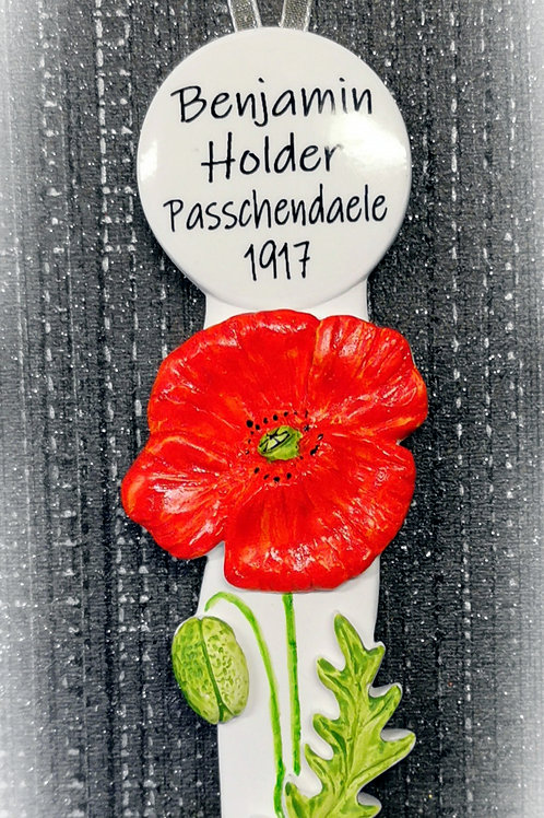 Poppy Gift, Lovespoon Personalised, Any Message, Handmade