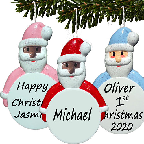 Personalised Father Christmas Tree Bauble