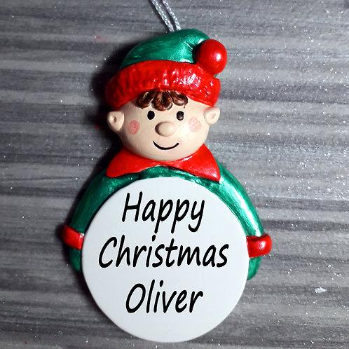 Naughty Elf Personalised Christmas Decoration