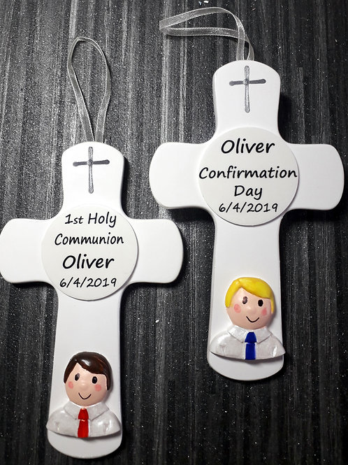Personalised BOY wall cross